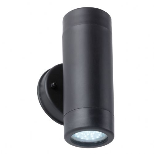 Ip44 Gu10 Led Polycarb Up & Down Light + 2 Led Gu10 Lamps BXEL-40054-17 (Double Insulated)